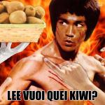 Lee vuoi quei kiwi, Bruce Lee, Kiwy, scioglilingua, calambuh